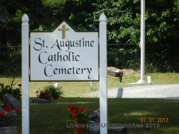 St. Augustine Cemetery sign