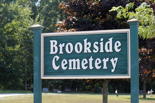 Brookside Cemetery Sign