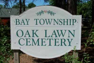 Oak Lawn Cemetery Entrance Sign