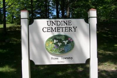 Undine Cemetery Sign
