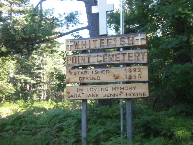 Whitefish Point Cemetery Sign