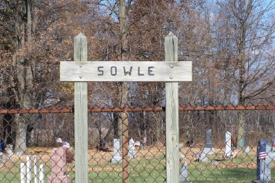 Sowle Cemetery Sign