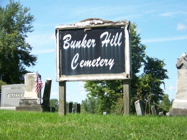 Bunker Hill  Cemetery Sign