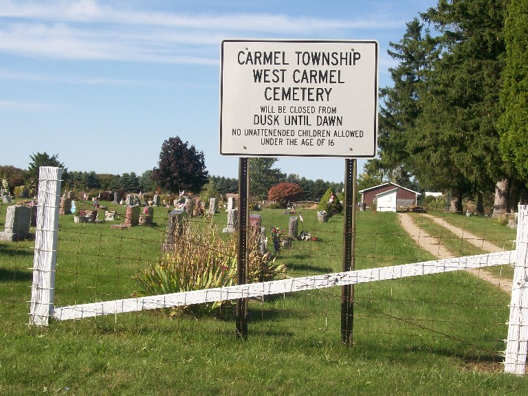 West Carmel Cemetery Entrance Sign