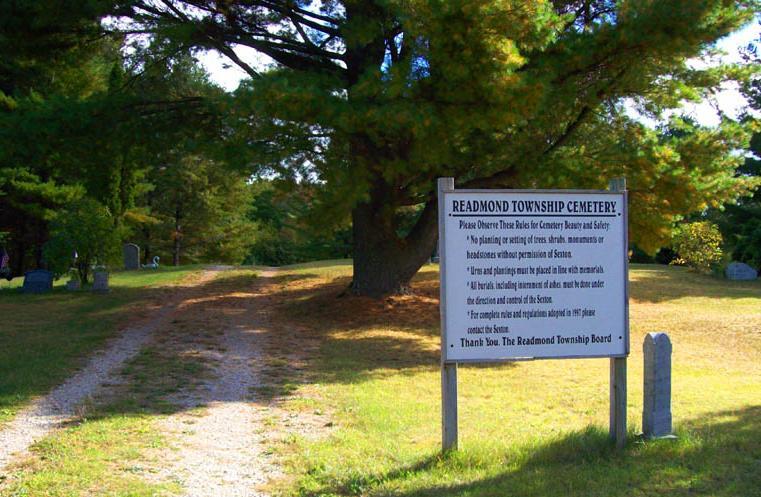 Readmond Township Cemetery sign