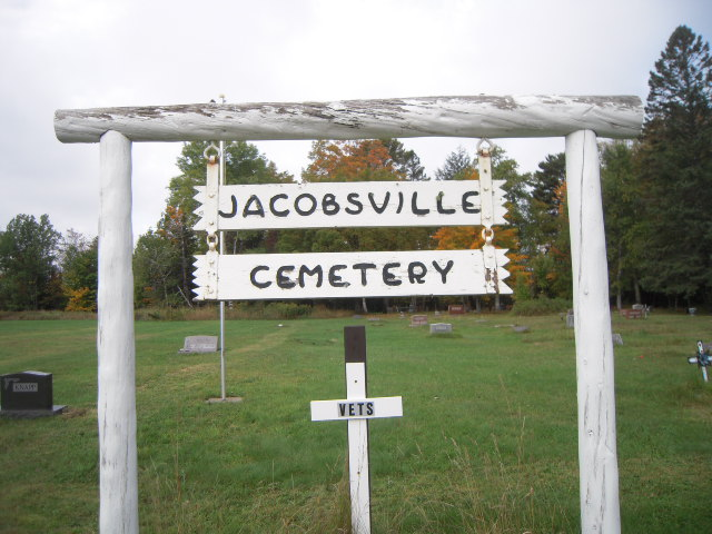 Jacobsville Cemetery Sign