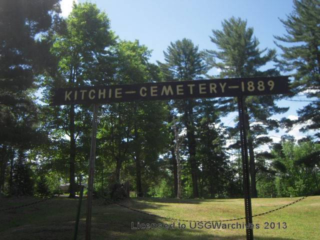 Kitchie Cemetery sign