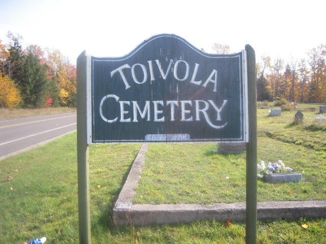 Toivola Cemetery Sign