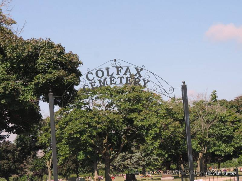 Colfax Cemetery Sign