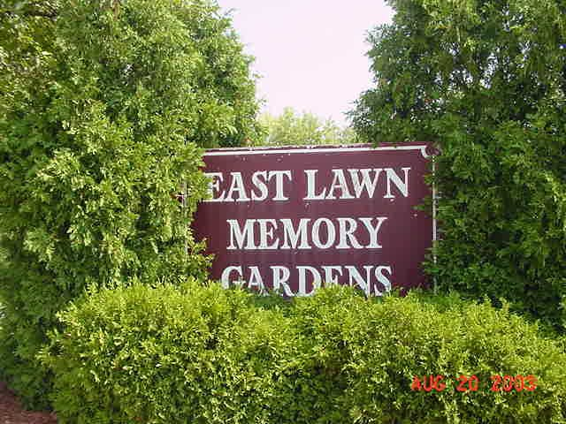 East Lawn Memory Gardens sign