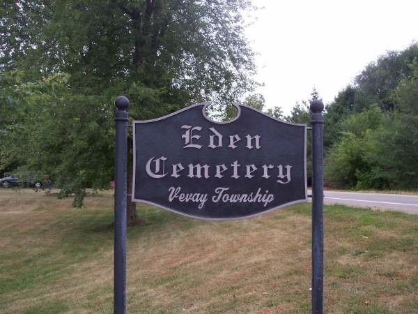 Eden Cemetery sign