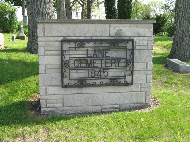 Lane Cemetery sign