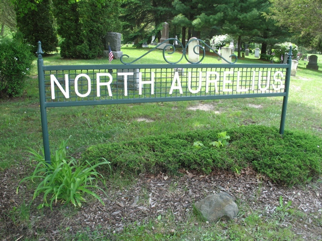 North Aurelius Cemetery sign