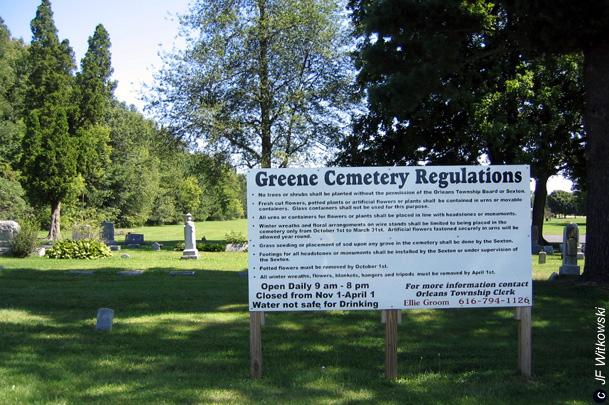 Greene Cemetery Entrance