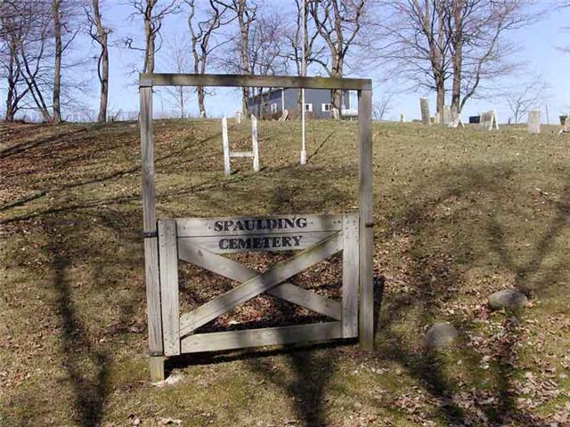 Spaulding Cemetery Sign