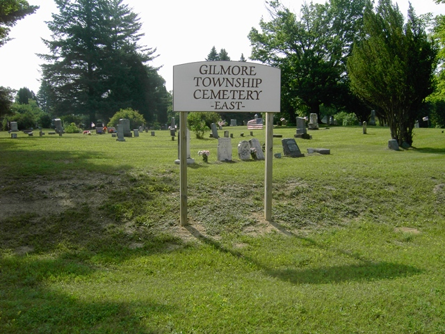 Gilmore Township Cemetery Sign