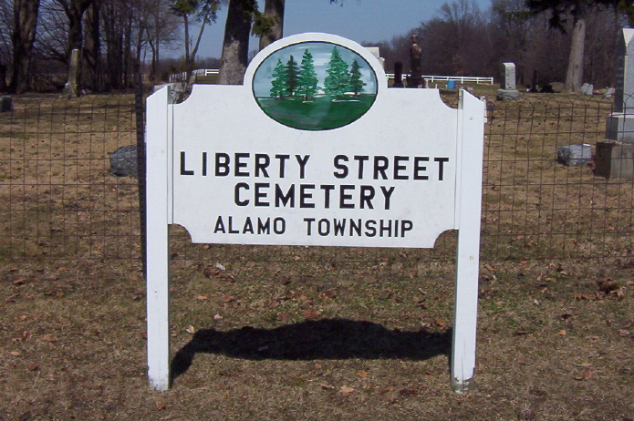 Liberty Street Cemetery Sign