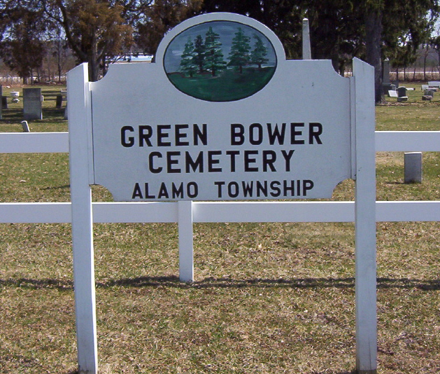 Green Bower Cemetery Sign