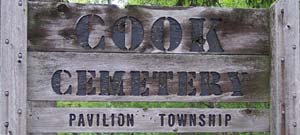 Cook Cemetery Sign