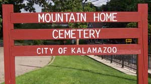 Mountain Home Cemetery Sign