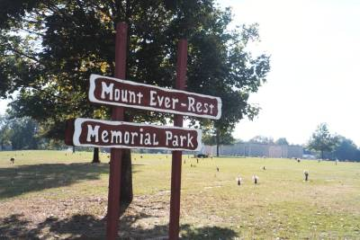 Mount Ever-Rest Memorial Park South Cemetery Sign
