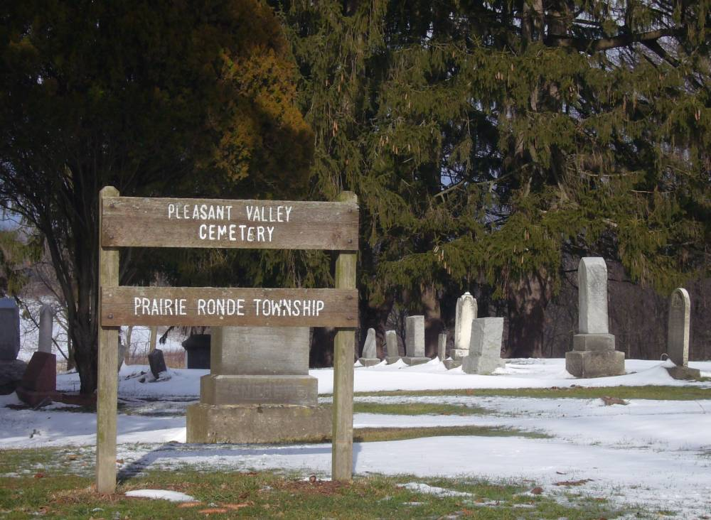 Pleasant Valley Cemetery Sign