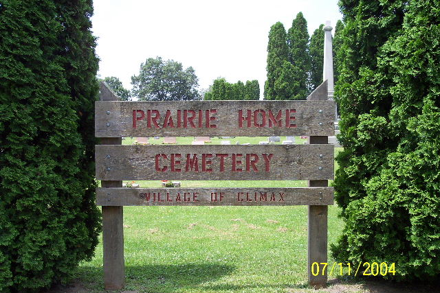 Prairie Home Cemetery Sign