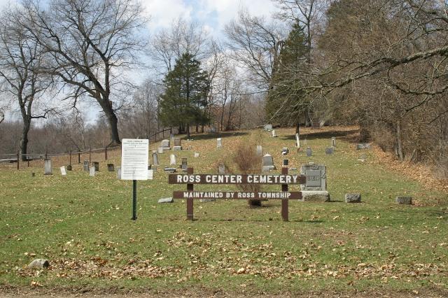 Ross Center Cemetery Entrance
