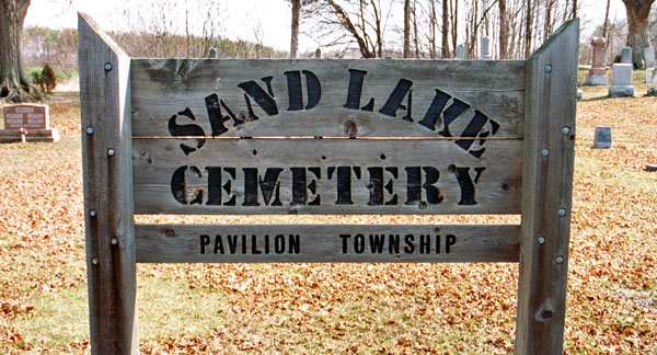 Sand Lake Cemetery Sign