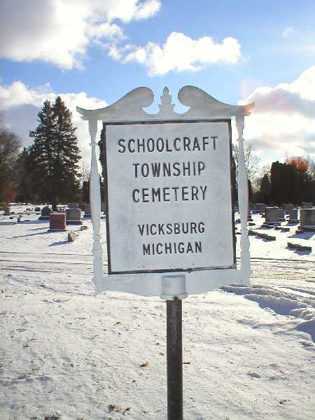 Schoolcraft Township Cemetery Sign
