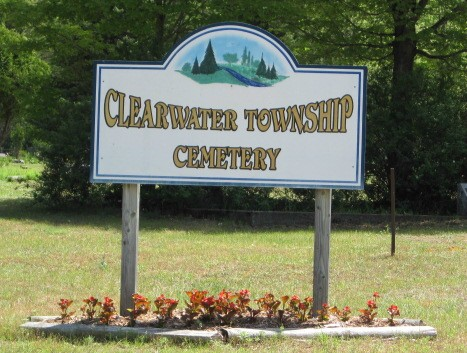 Clearwater Township Cemetery Sign