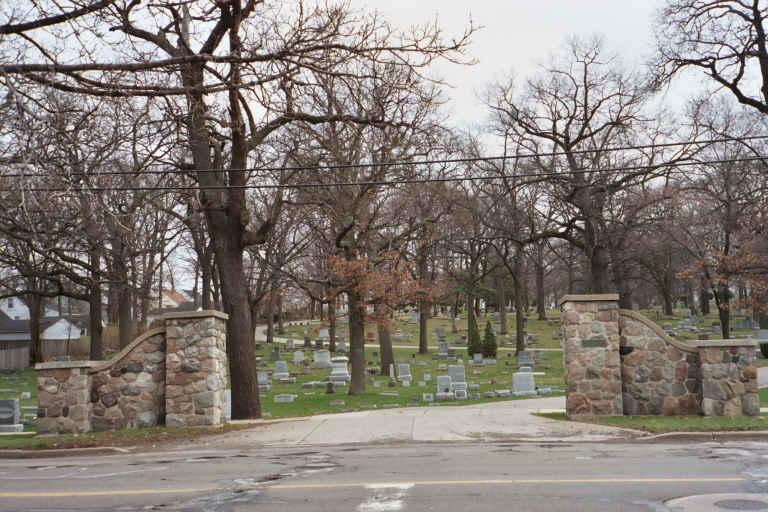 Garfield Park Cemetery Headstones Grand Rapids Kent County Michigan