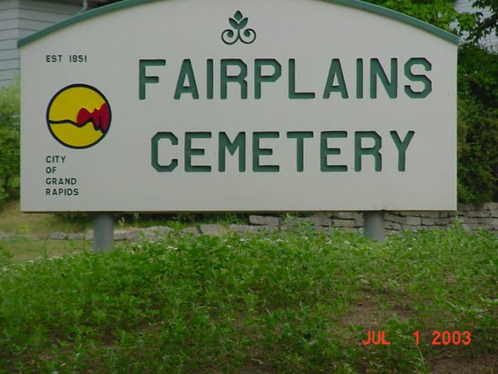 Fairplains Cemetery Sign