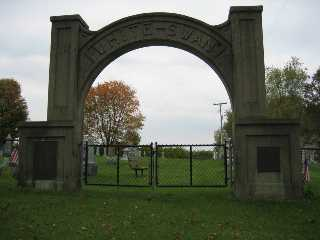 White Swan Cemetery Entrance