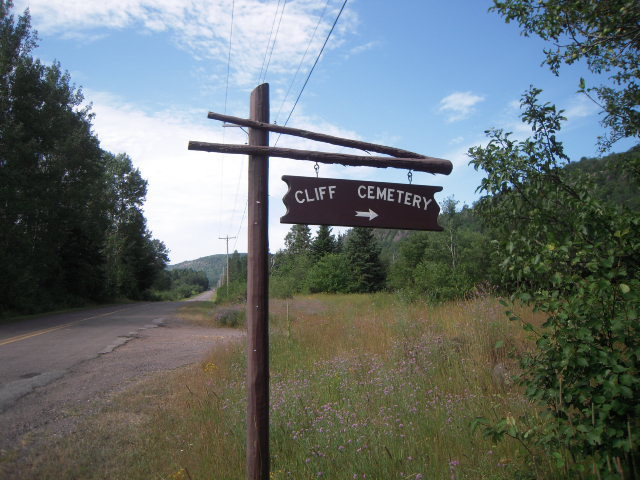 Cliff Cemetery Sign
