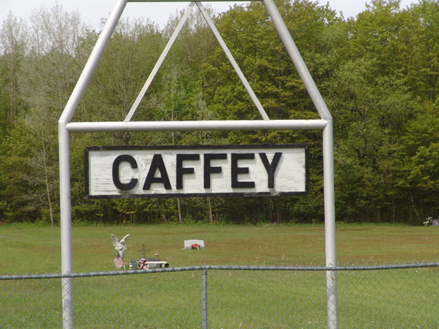 Caffey Cemetery Sign