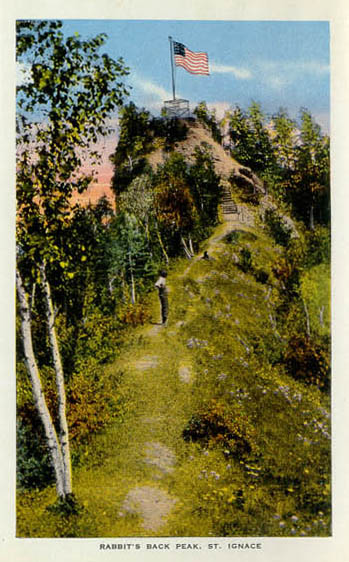 Bridge Street Auto >> Penny Postcards from Mackinac County Michigan