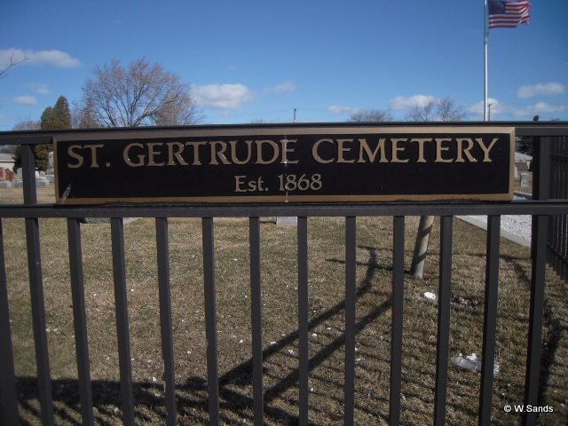 St. Gertrude Cemetery sign