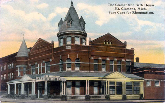 Penny postcards from macomb county michigan for Bath house michigan