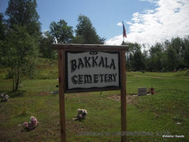Bakkala Cemetery sign