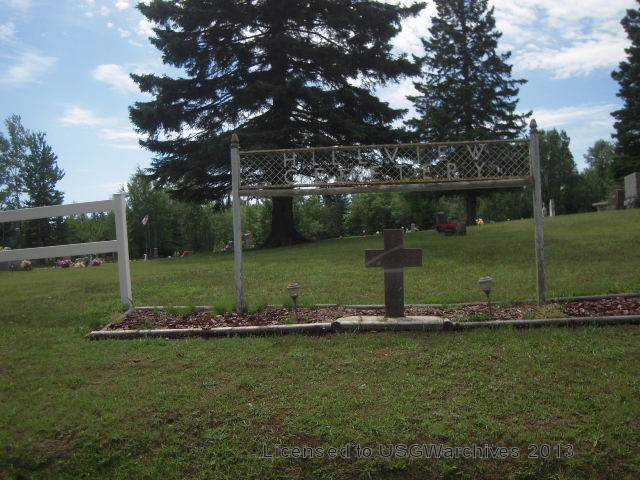 Hillview Cemetery sign