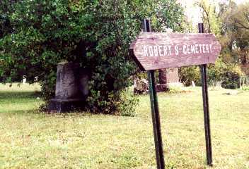Roberts Cemetery Entrance