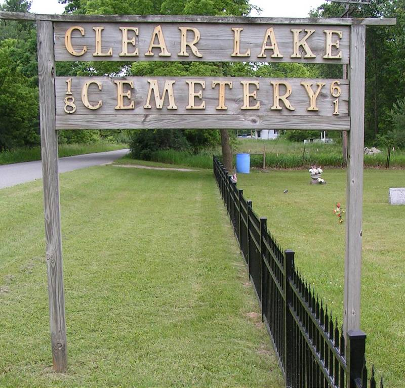 Clear Lake Cemetery Entrance