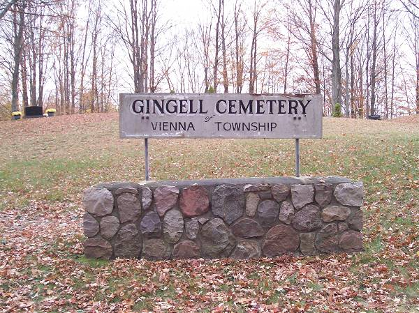 Gingell Cemetery Sign