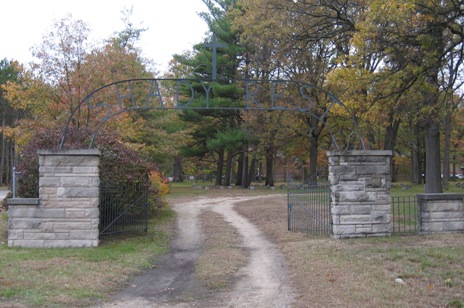 Shady Rest Cemetery entrance