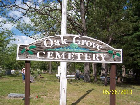 Oak Grove Cemetery Entrance Sign