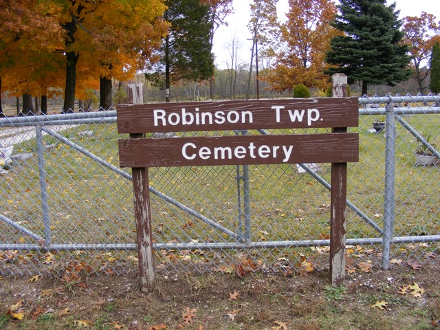 Robinson Twp. Cemetery Sign