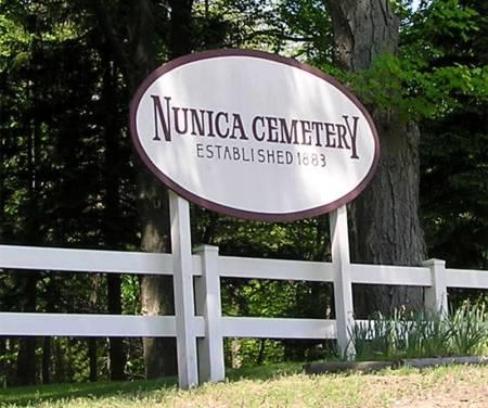 Nunica Cemetery Sign