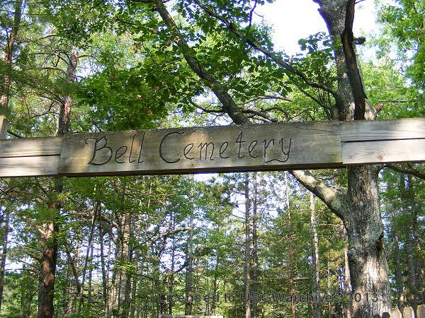 Bell Cemetery sign