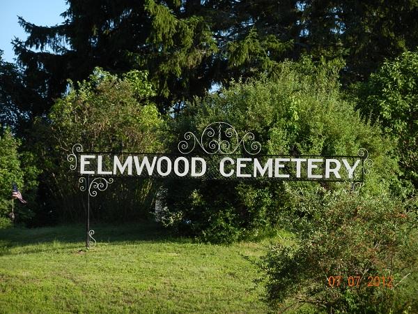 Elmwood Cemetery Sign